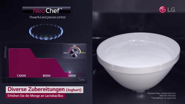 LG - Neo Chef - Diverse Zubereitungen (Joghurt) Video 10