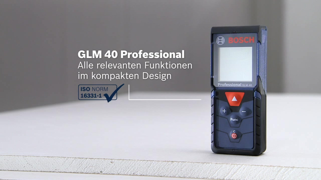 Laser Entfernungsmesser Duro : Glm 40 laser entfernungsmesser bosch professional