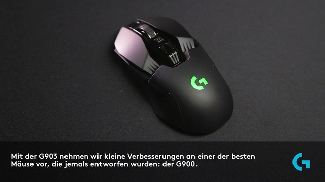 Logitech - G903 kabellose Lightspeed Gaming-Maus Video 14