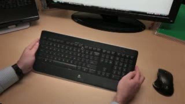 Logitech - Wireless Illuminated Keyboard K800 Video 4
