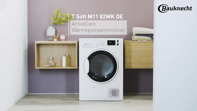 Bauknecht - T Soft M11 82WK DE ActiveCare Wärmepumpentrockner Video 3