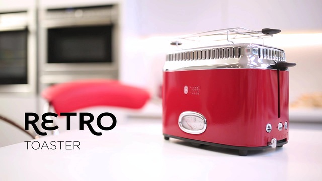 Russell Hobbs - Retro Ribbon Red Toaster 21680-56 Video 3