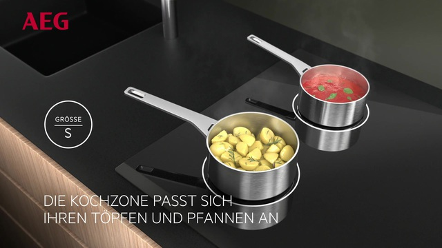 AEG - MaxiSense Induktions-Kochfelder mit anpassungsfähigen Kochzonen Video 2
