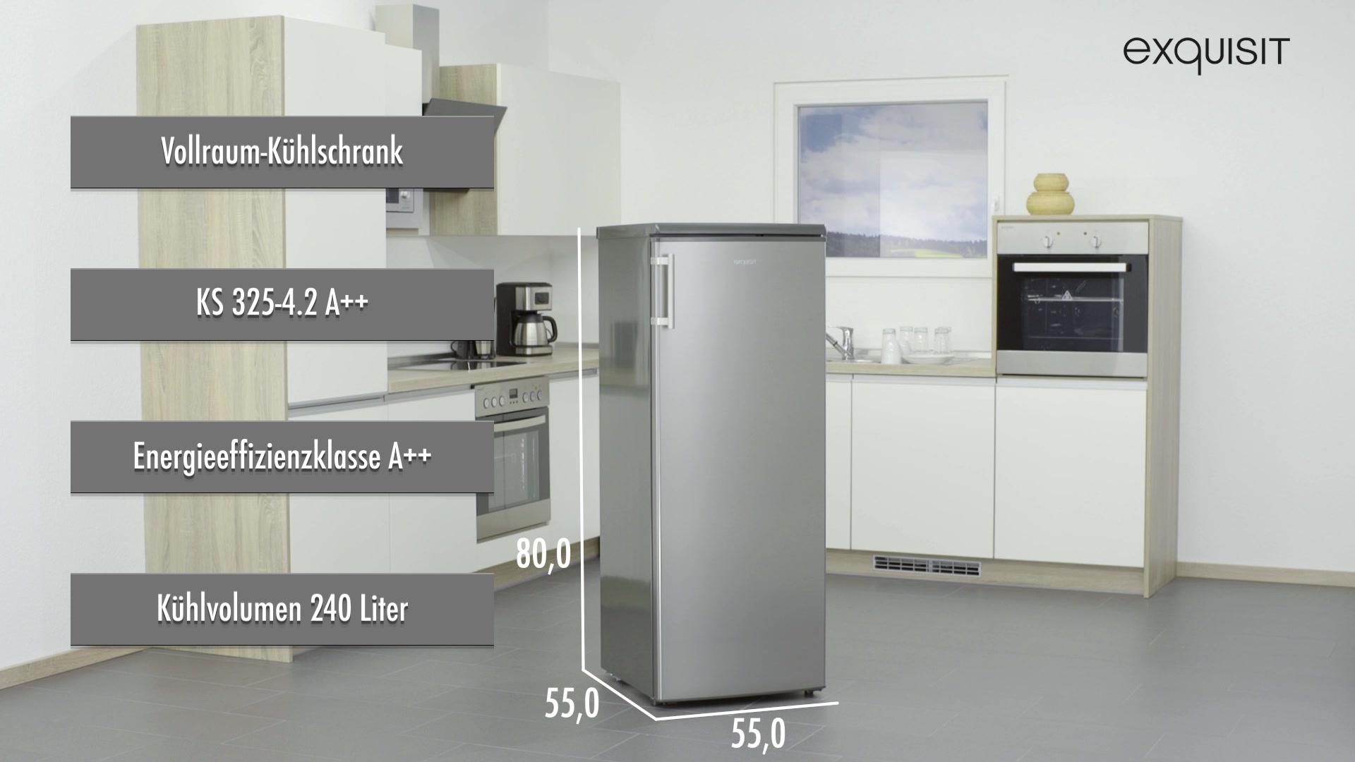 Kühlschrank Vollraum : Exquisit kühlschrank ks a a cm hoch hagebau