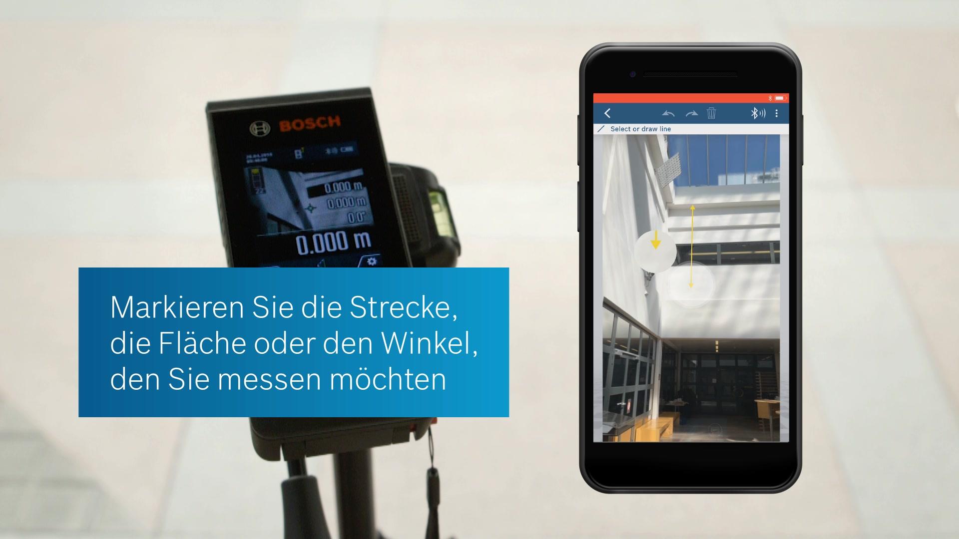 Bosch Entfernungsmesser Bedienungsanleitung : Glm c laser entfernungsmesser bosch professional