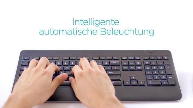 Logitech - Wireless Illuminated Keyboard K800 Video 3