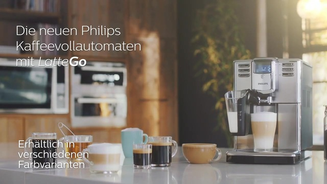 Die neuen Philips Kaffeevollautomaten mit LatteGo Video 3