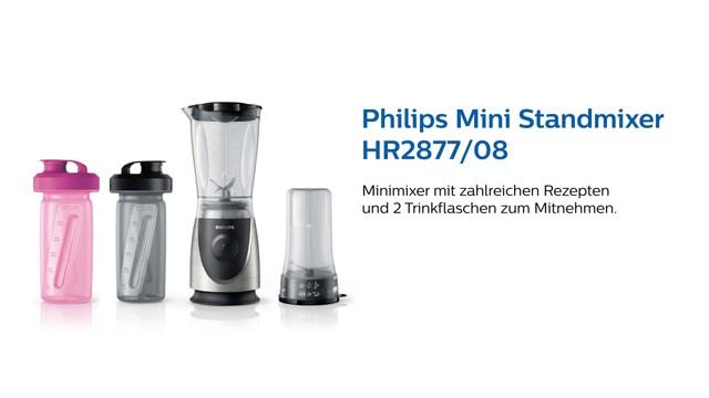Philips Mini Standmixer HR2877/08 Video 3