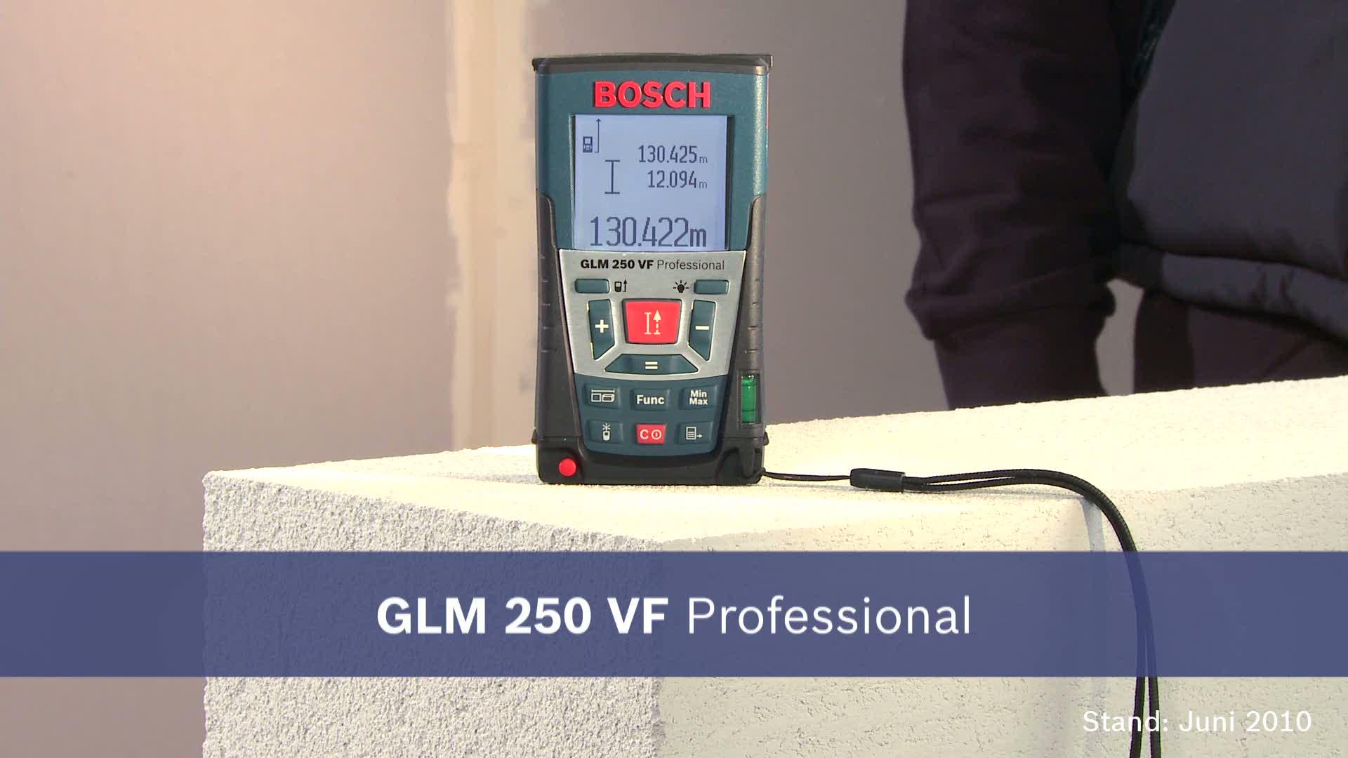 Laser Entfernungsmesser Bosch Glm 250 Vf : Glm 250 vf laser entfernungsmesser bosch professional