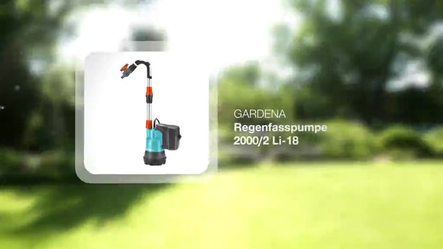 Universal Rain Water Tank Pump 2000/2 Li-18 Video 12