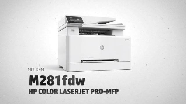 HP - M281fdw Color Laserjet Pro-MFP Video 3