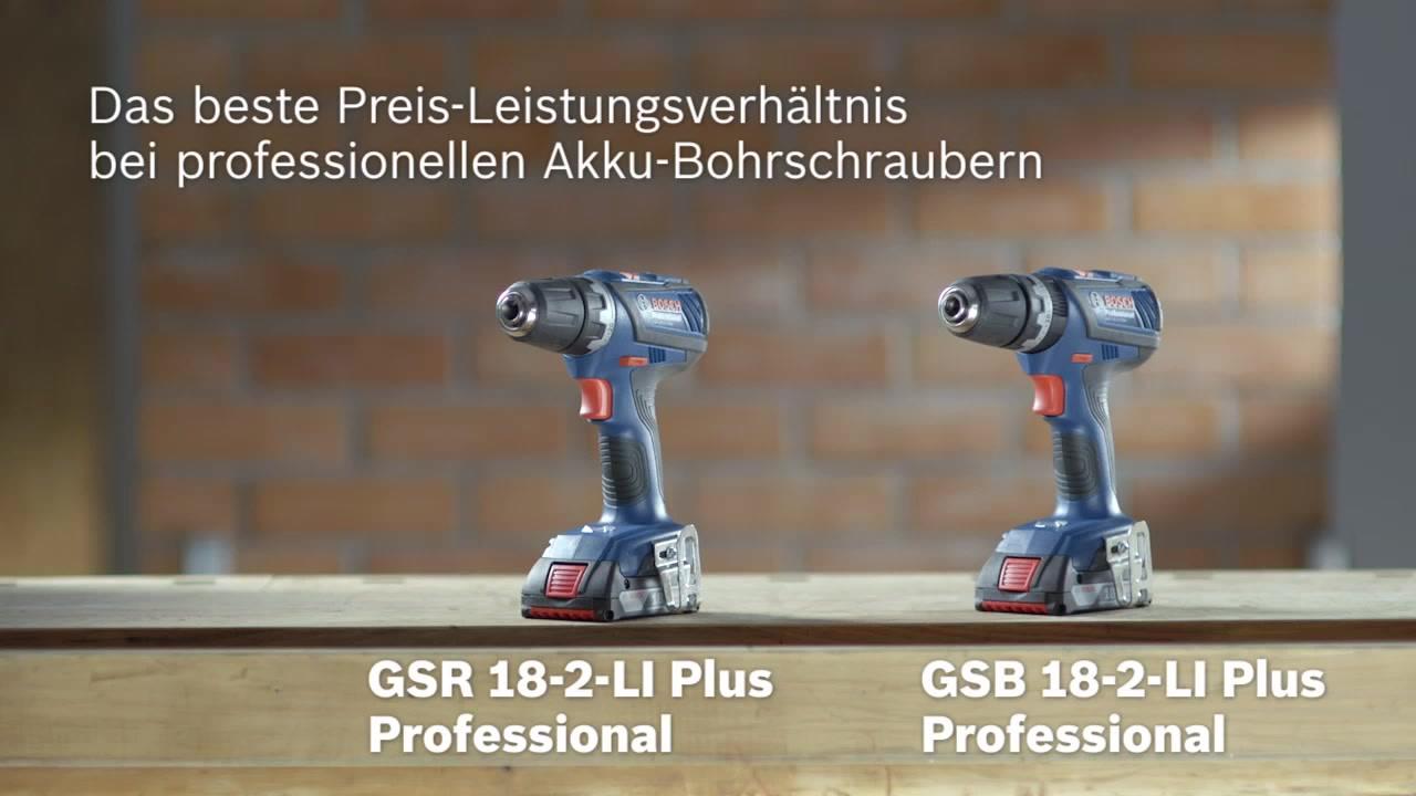 Gsb 18 2 Li Plus Akku Schlagbohrschrauber Bosch Professional