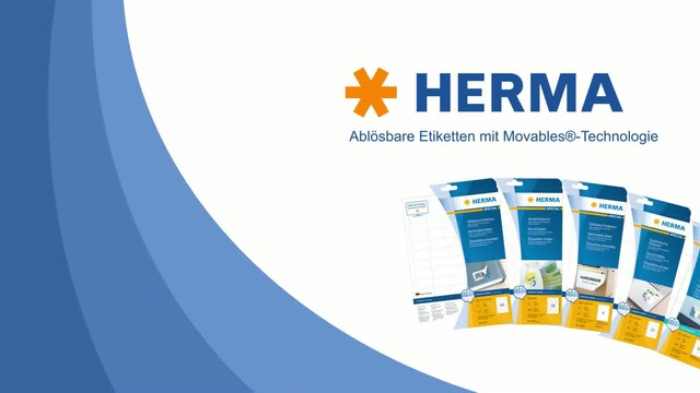 HERMA - Movables ablösbare Etiketten Video 3