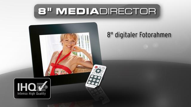 """Intenso - Digitaler Bilderrahmen 8"""" MediaDirector Video 3"""