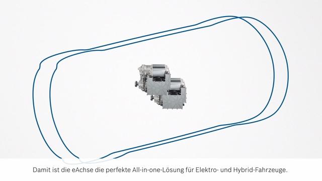 Animation: Das elektrische Achsantriebssystem (eAchse) - Bosch Media ...