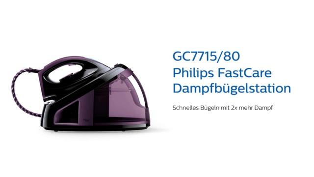 Philips FastCare Dampfbügelstation GC7715/80 Video 3