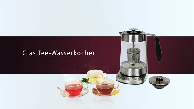 Profi Cook - Glas Tee- Wasserkocher Video 3