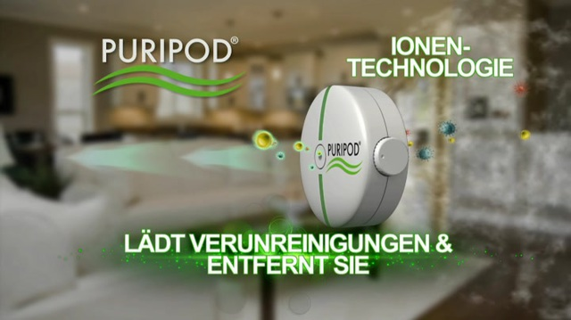 Puripod - Ionenluftreiniger Video 3
