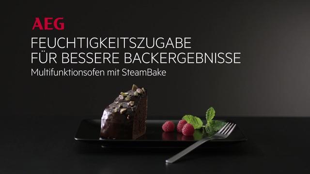 AEG - SteamBake Backofen - Saftiger Schokoladenkuchen Video 13