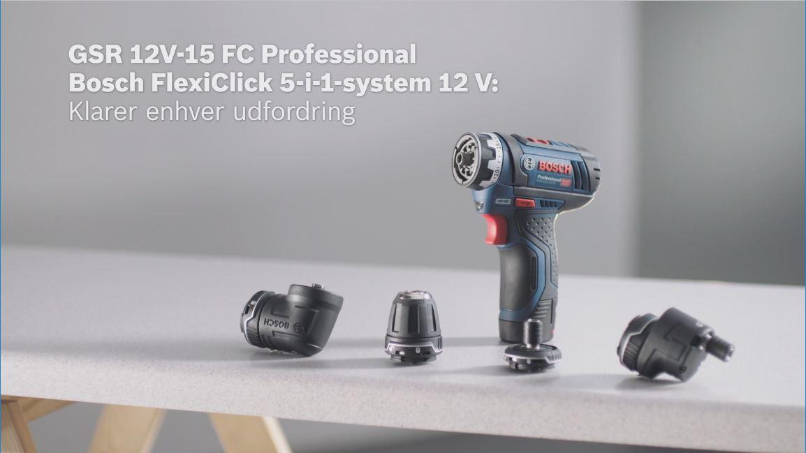 Alle nye GSR 12V-15 FC Batteridrevet bore-/skruemaskine | Bosch Professional NO51